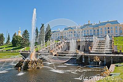 Fuentes de Petergof, St Petersburg, Rusia