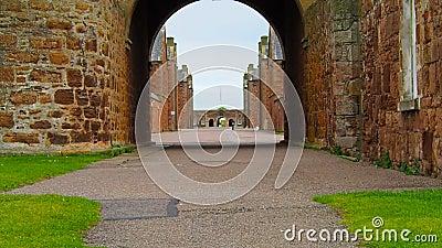 """Fuerte George, †de Inverness, Reino Unido """"20 de agosto de 2017: Vista del tubo principal del ` s de George del fuerte metrajes"""