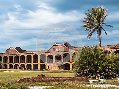 Fuerte histórico Jefferson en el Tortugas seco