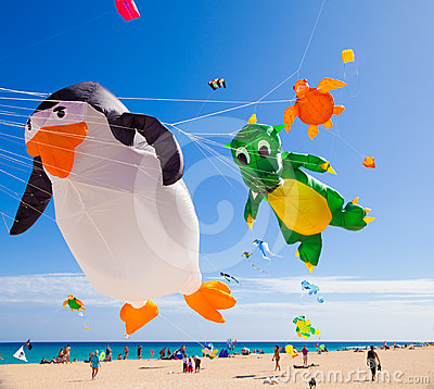FUERTEVENTURA - NOVEMBER 13, 2011: KITE FESTIVAL Editorial Stock Photo