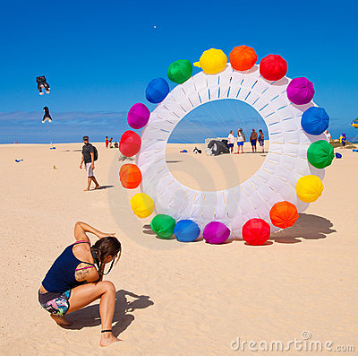 FUERTEVENTURA - NOVEMBER 13: Kite festival Editorial Stock Photo