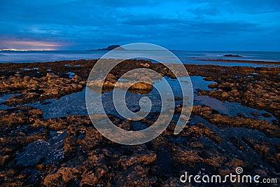 Fuerteventura shoreline at the blue hour