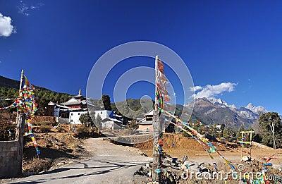 Fuguo Lama Buddhist temple, Lijiang, China