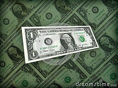Full of American Money Dollar on black