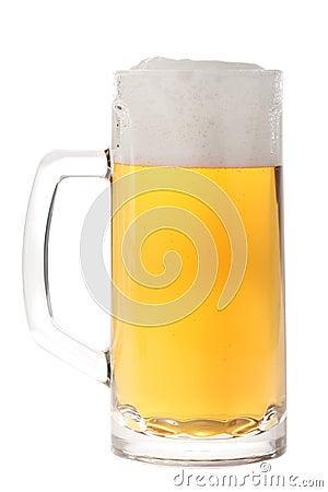 Free Full Beer Mug Isolated On White Stock Images - 10439784
