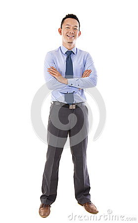 Free Full Body Asian Man Royalty Free Stock Image - 26871416