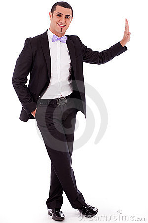 Full body of a business man standing