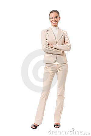 Full-body businesswoman