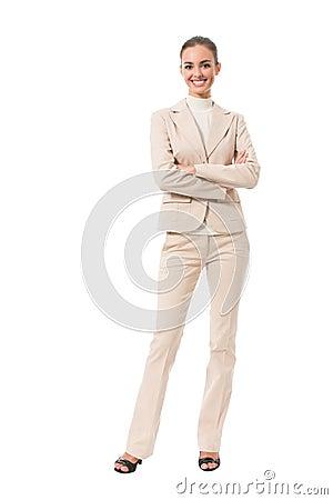 Full-body businesswoman