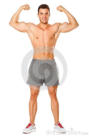 Full body of muscular man