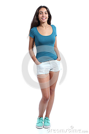 Free Full Body Of A Standing Pretty Teenager Girl Stock Photography - 50078852