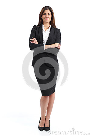 Free Full Body Portrait Of A Confident Business Woman Royalty Free Stock Photography - 51068067