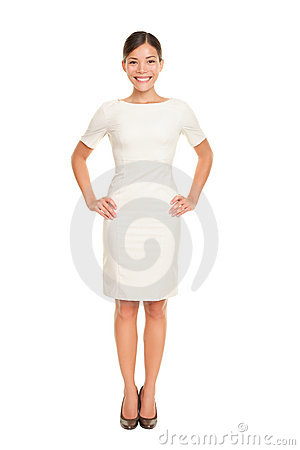 Full body woman portrait standing