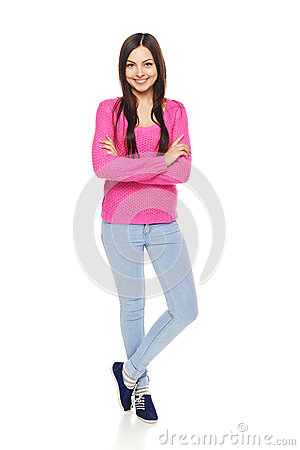 Free Full Body Woman Showing Thumbs Up Gesture Stock Photo - 48844450