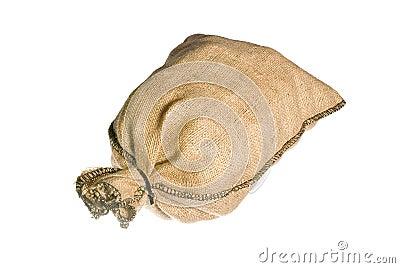 Full burlap sack  isolated