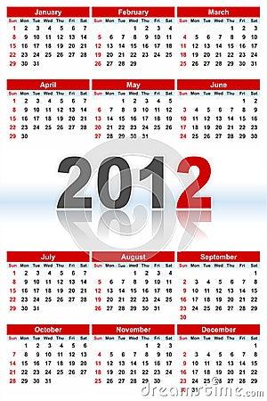 Full Calendar_2012
