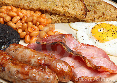 Full English Cooked Fried Breakfast