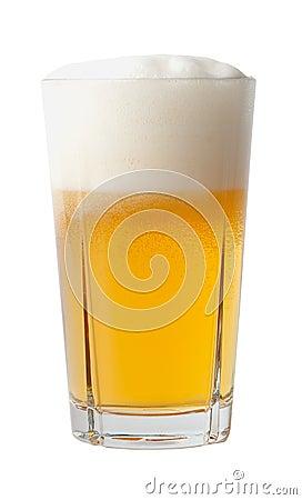 Full glass of beer.