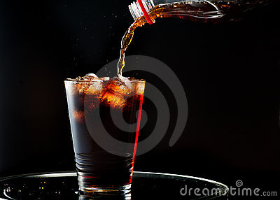 Full glass of cola
