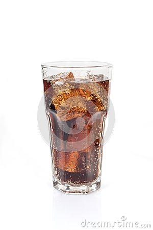 Free Full Glass Of Soft Drink, Isolated On White Stock Photography - 99659002