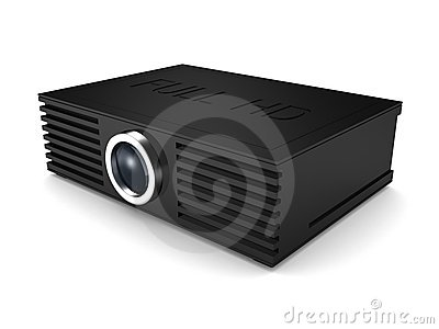 Full HD projector. cinema movie entertainment
