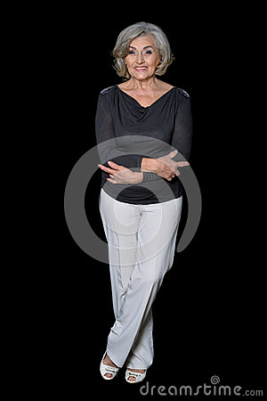 Free Full Height Portrait Of Mature Woman Royalty Free Stock Images - 86014519