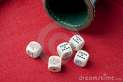 Full house with poker-dice