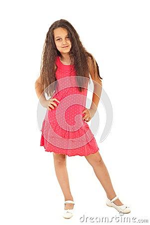 Full length of beautiful girl model