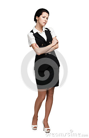 Full-length of business woman