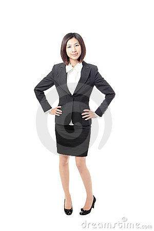 Full length Business woman smile standing