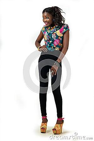 Full length fashion model lady