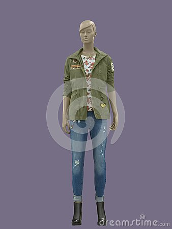 Free Full-length Female Mannequin Stock Images - 109689384