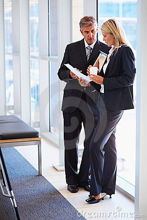 Full length image of business people discussing