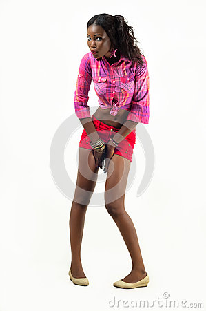 African American young fashion woman