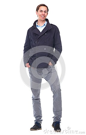 Full length portrait of an attractive young man smiling