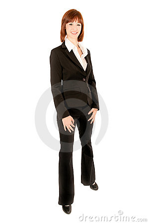 Full length portrait of beautiful business woman