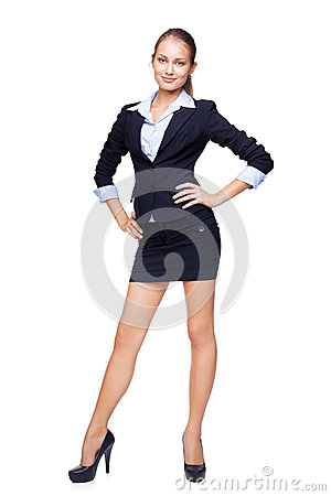 Full length portrait of a beautiful business woman