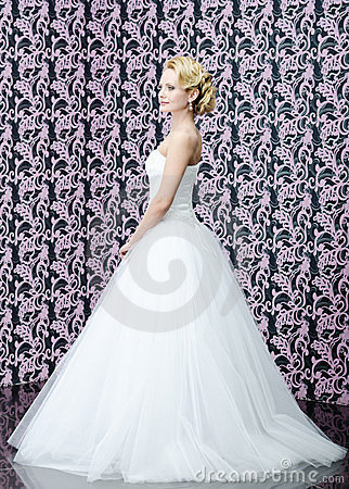 Full length portrait of the bride