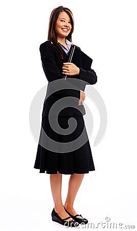 Full length portrait of a businesswoman