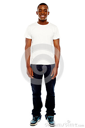 Full length portrait of casual adult man