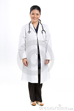 Full length Portrait of a Female Doctor