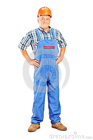 Full length portrait of a mature manual worker