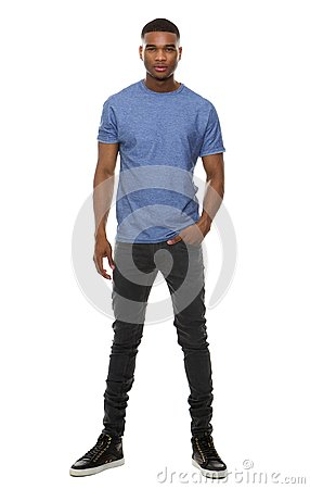 Free Full Length Portrait Of A Fashionable Young Man Stock Photography - 46309952