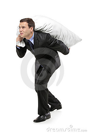 Free Full Length Portrait Of A Man Carrying A Bag Stock Photo - 16513740