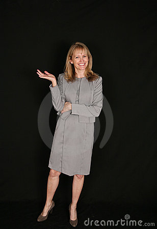Full length of senior business woman