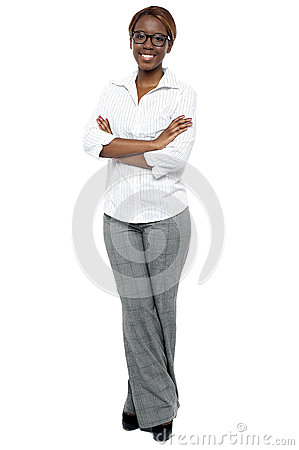 Full length shot of attractive female consultant