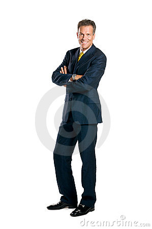 Full length smiling businessman