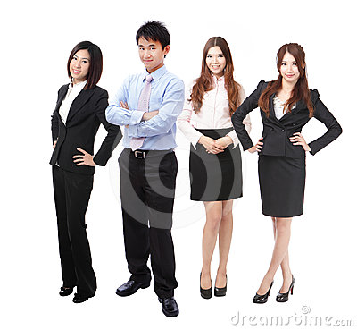 Full length successful Business team people group