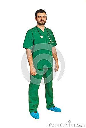 Full length of surgeon male
