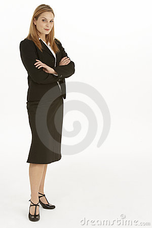 Full Length View Of Businesswoman